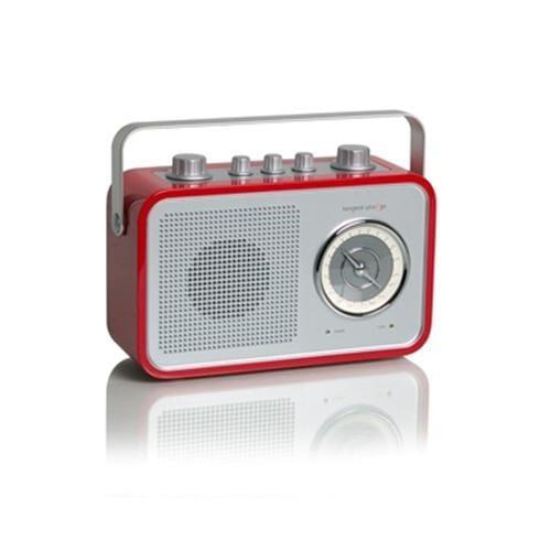 Rádio Tangent Uno 2go dizajnové prenosné AM/FM retro červené 11265