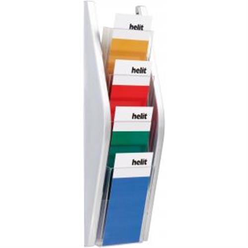 Prezentačný stojan Helit 4x1/3A4 strieborný HE627030