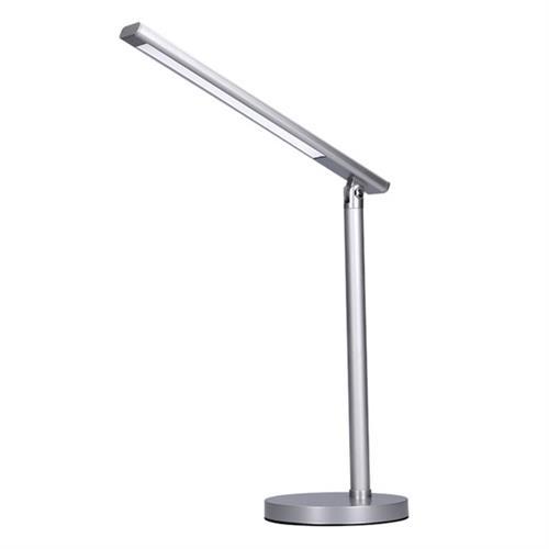 Solight LED stolná lampička, 7W, stmievateľná, zmena chromatickosti, strieborná farba WO53-S