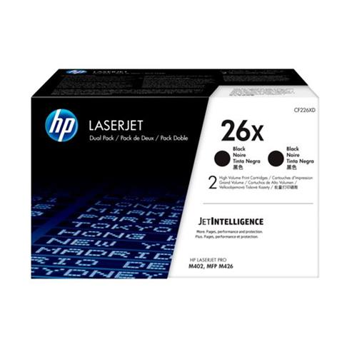 TONER HP CF226XD Dual pack HP26X čierny, 2x9000str.