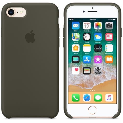 Apple iPhone 8 / 7 Silicone Case - Dark Olive MR3N2ZM/A