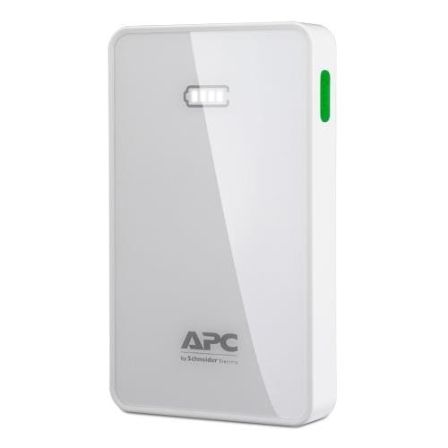 APC Mobile Power Pack, 5000mAh Li-polymer, White ( EMEA/CIS/MEA) M5WH-EC