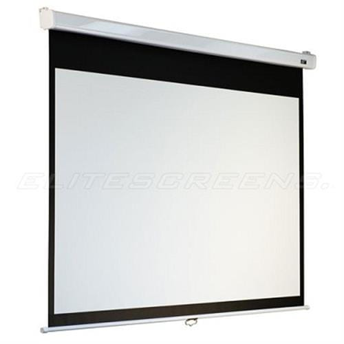 ELITE SCREENS plátno roleta 100 (254 cm)/ 16:9/ 124,5 x 221 cm/ Gain 1,1/ case bílý/ Fiber Glass/ slow retract