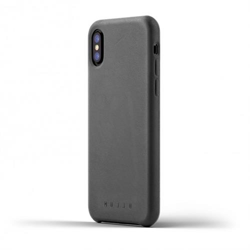 MUJJO Full Leather Case pre iPhone X - šedý MUJJO-CS-095-GY