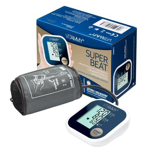 VITAMMY SUPER BEAT ramenný tlakomer, farba modrá 415869