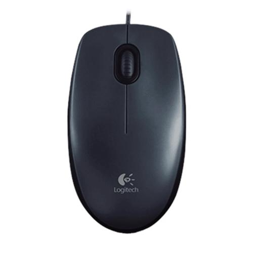 Myš Logitech M100 optická, šedá, USB 910-005003