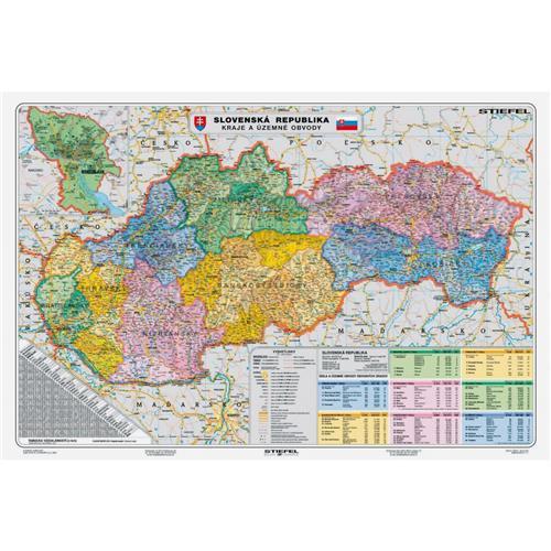 Mapa Slovensko-Kraje a územné obvody NM047307