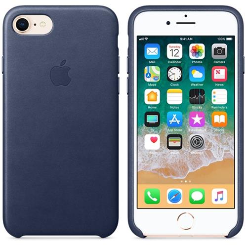 Apple iPhone 8 / 7 Leather Case - Midnight Blue MQH82ZM/A