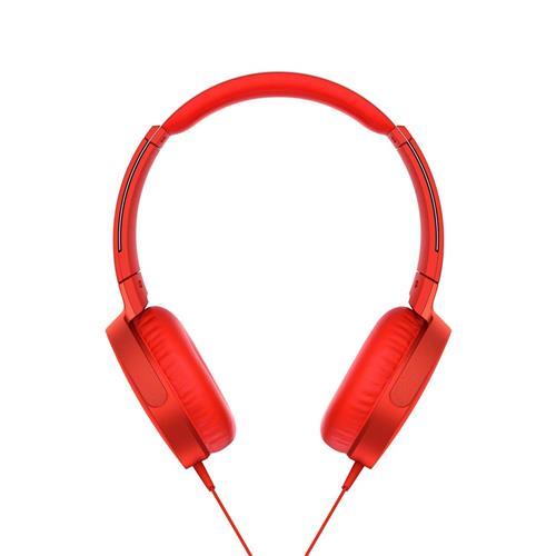 Slúchadlá SONY EXTRA BASS MDR-XB550AP, červené MDRXB550APR.CE7