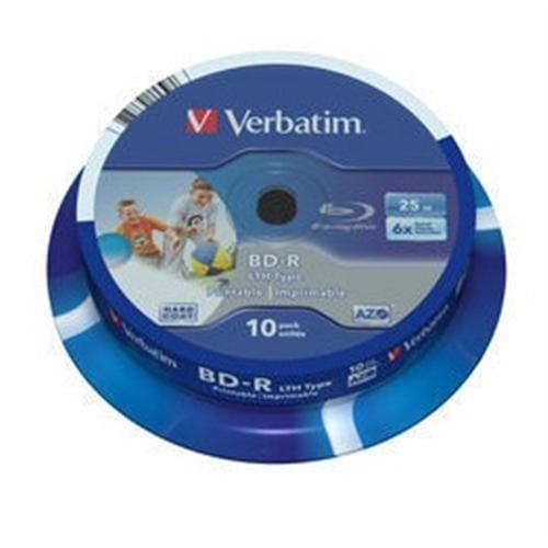 VERBATIM BD-R SL(10-pack)25GB/6x/spindle/printable 43751