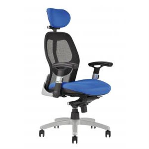 Kancelárska stolička SATURN NET modrá OF100010