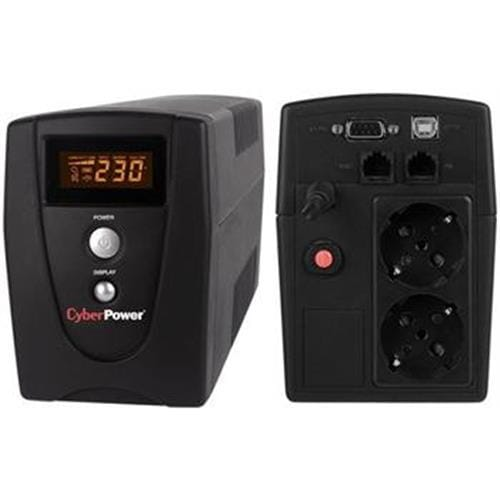CyberPower UPS Value 600VA-360W LCD, 2 FR