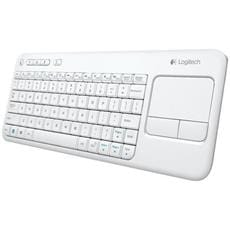 Klávesnica Logitech Wireless Touch Keyboard K400 Plus White (US International)
