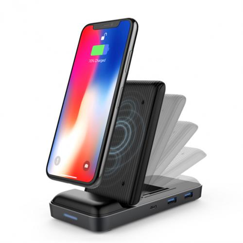HyperDrive USB-C Hub + 7.5 W Wireless Charger HY-HD258B