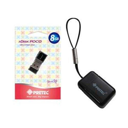 USB Kľúč 16GB Pretec i-Disk Poco, USB 2.0, čierny POC16G-B