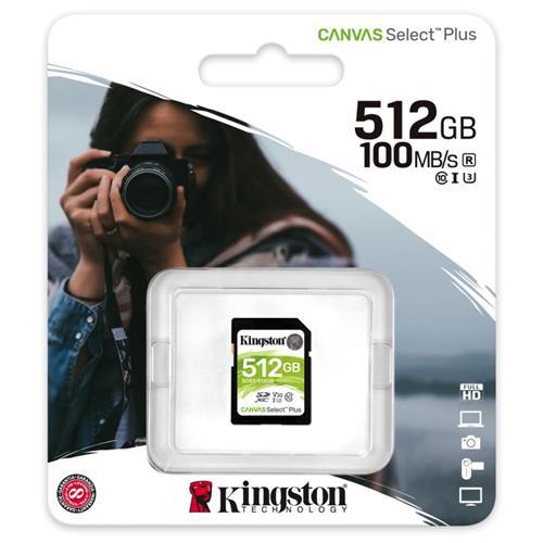 512GB SDXC Kingston Canvas Select Plus U3 V30 CL10 100MB/s SDS2/512GB