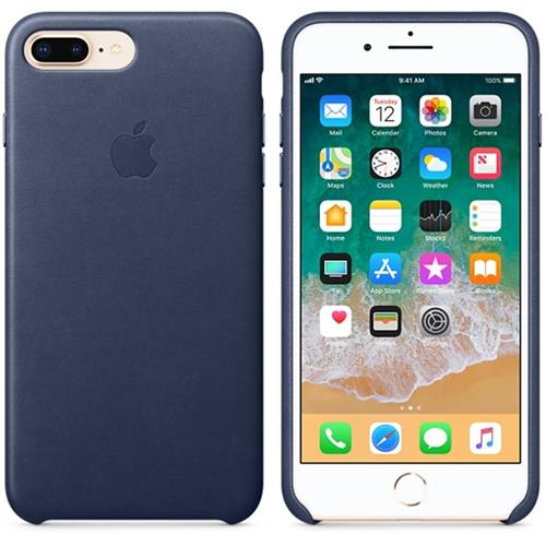 Apple iPhone 8 Plus / 7 Plus Leather Case - Midnight Blue MQHL2ZM/A