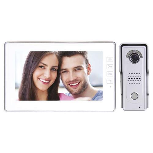"""Emos videotelefón H1019, farebný 7 """"LCD + kamera s 1 tlačidlom, záznam zmeškaných návštev, biely 3010000114"""