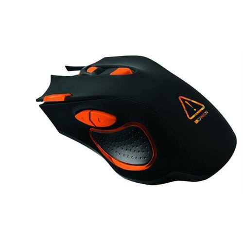 Canyon Corax CND-SGM5N hráčska myš, drôtová, optická, 800/1600/2400/4800/6400 dpi, 7 program. tlač, LED podsv., čierna