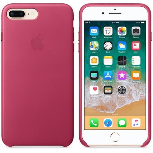 Apple iPhone 8 Plus / 7 Plus Leather Case - Pink Fuchsia MQHT2ZM/A