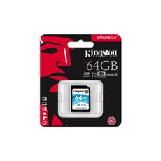 Kingston 64GB SDXC Canvas GO (90R/45W CL10 U3 V30)