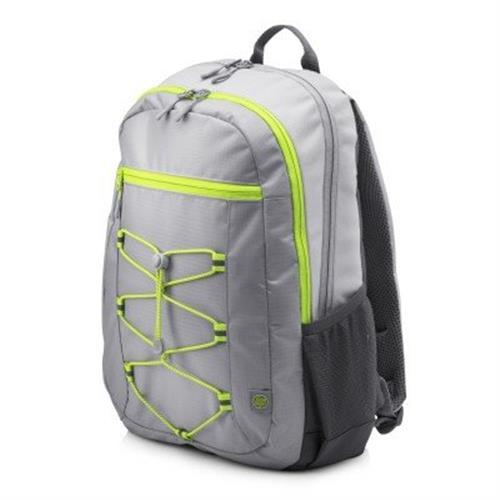 HP 15.6 Active Backpack (Grey/Neon Yellow) 1LU23AA#ABB
