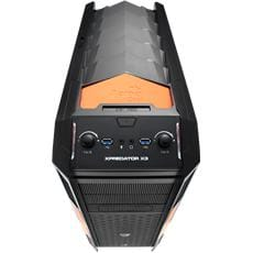 Skrinka AEROCOOL XPredator X3 Evil Black Edition (Black/Orange)