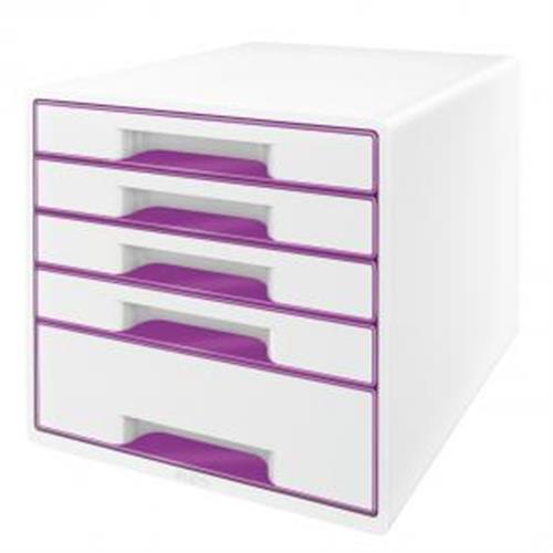 Zásuvkový box Leitz WOW purpurový ES521462