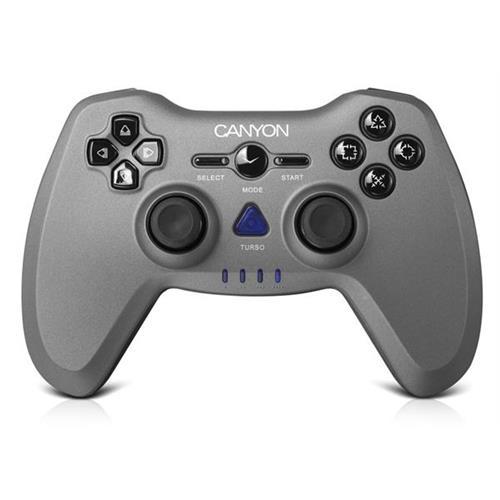 Canyon CNS-GPW6 Gamepad 3v1pre PC/PS2/PS3, bezdrôtový do 10m, až 8 hod výdrž, dual-shock vibrácie,