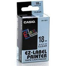 Páska CASIO XR-18X Black On Clear Tape EZ Label Printer (18mm)