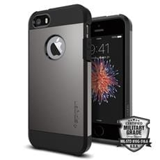 Spigen kryt Tough Armor pre iPhone SE - Gunmetal