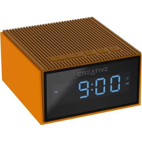 Creative CHRONO, FM rádiobudík, bluetooth reproduktor, brown 51MF8280AA001