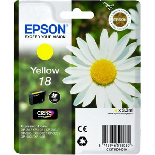 Kazeta EPSON XP-305 T1804 18 Yellow