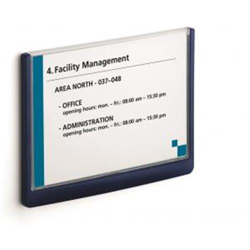 Informačná tabuľka Click Sign 210x148,5 modrá DU486607