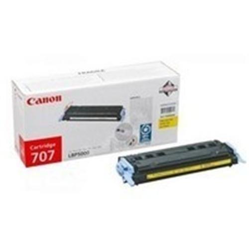 Toner CANON CRG-707 žltý pre LBP 5000 / 5100 4k strán 9421A004AA