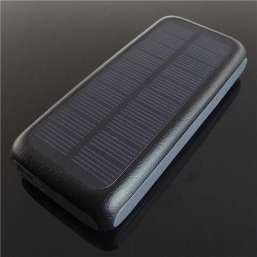PowerNeed Power Bank so solárnym panelom 0.7W, 13000mAh, čierny S13000M