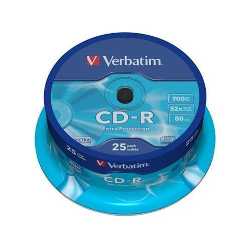 Média CD-R Verbatim 700MB/80min, 52x, Cake, 25ks 43432