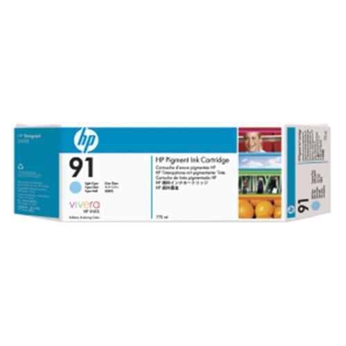 Kazeta HP HPC9486A 91 Light Cyan 3-pack - 3 ink cartridges 775 ml each
