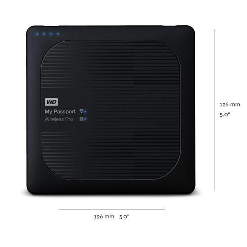 Ext.HDD 2.5'' WD My Pass.Wireless Pro 1TB, USB 3.0, SD WDBVPL0010BBK-EESN