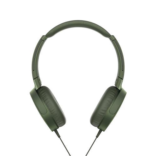 Slúchadlá SONY EXTRA BASS MDR-XB550AP, zelené MDRXB550APG.CE7