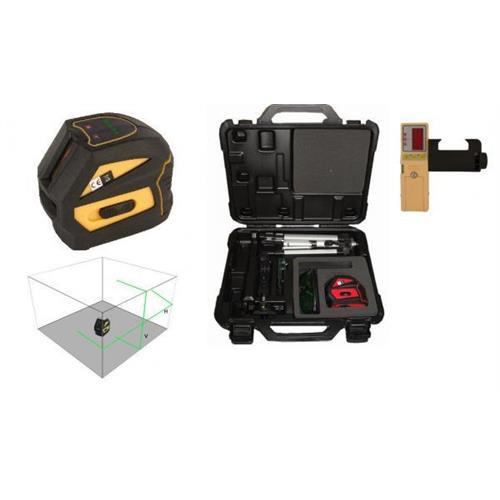 Krížový laser EK-118G - zelený lúč + prijímač PKOD-2448