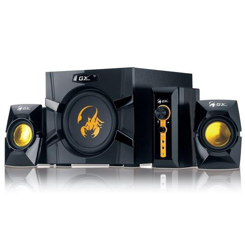 Genius GX GAMING SW-G2.1 3000 Ver. II, Reproduktory, herné, 2.1, 80W, čierno-zlaté 31730021400