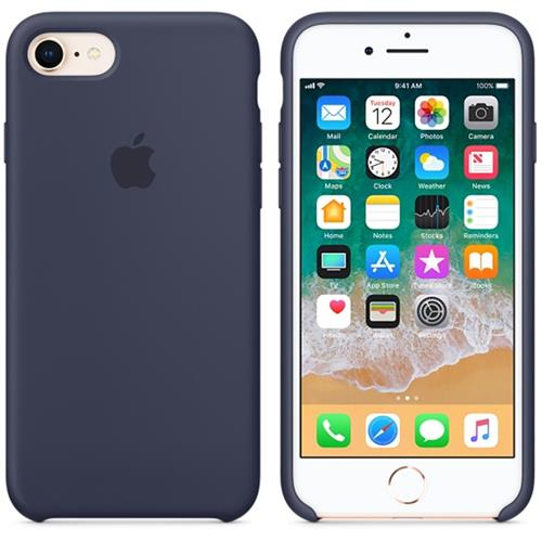 Apple iPhone 8 / 7 Silicone Case - Midnight Blue MQGM2ZM/A