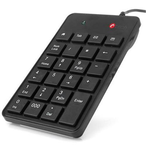 Numerická klávesnica C-TECH KBN-01, 23 kláves, USB slim black