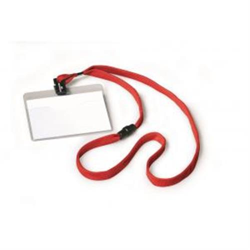 Visačka s červeným remienkom DURABLE 90x60mm 10ks DU813903