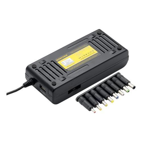 PATONA napájací adaptér k NTB PT 100W na 240V i 12V-24V 8 konektorov + USB PT2536