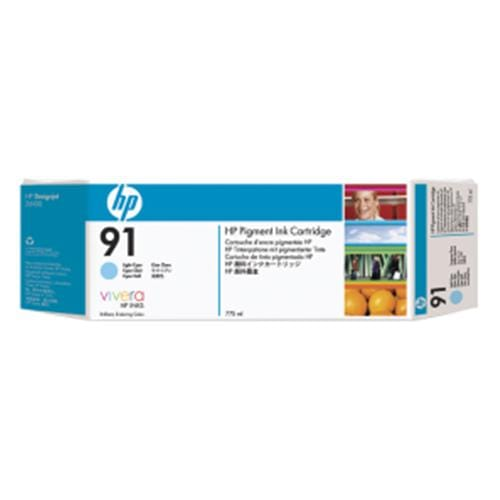 Kazeta HP HPC9486A 91 Light Cyan 3-pack - 3 ink cartridges 775 ml each