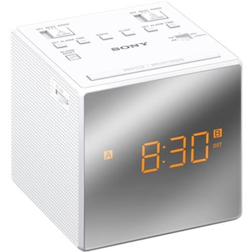 Sony rádiobudík ICF-C1T, duálny alarm, biely ICFC1TW.CED