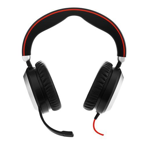 Jabra Evolve 80, Stereo, USB-C/Jack, MS 7899-823-189