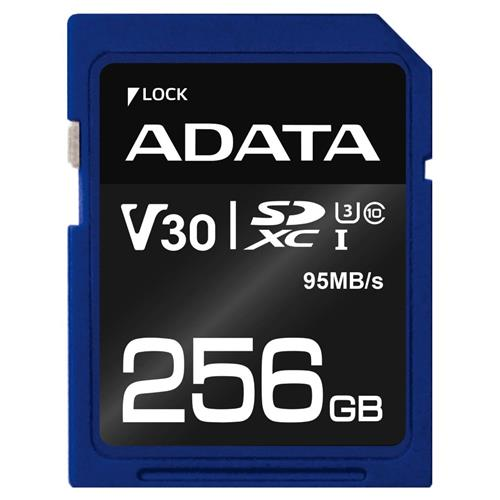 ADATA SDXC 256GB UHS-I U3 V30S 95/60MB/s ASDX256GUI3V30S-R